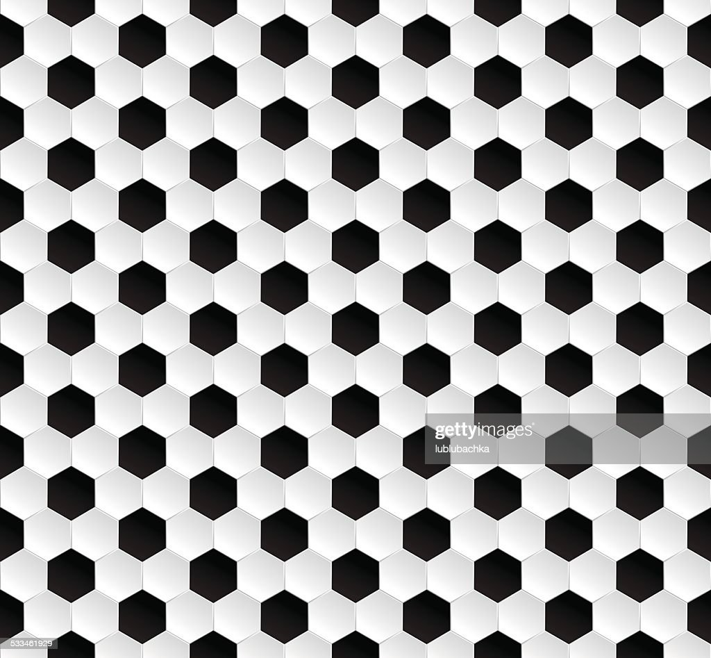 Hexagonal abstract football texture background