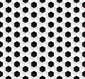 Hexagonal abstract football texture background