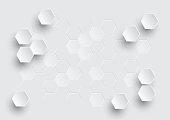 Hexagonal geometric abstract background.