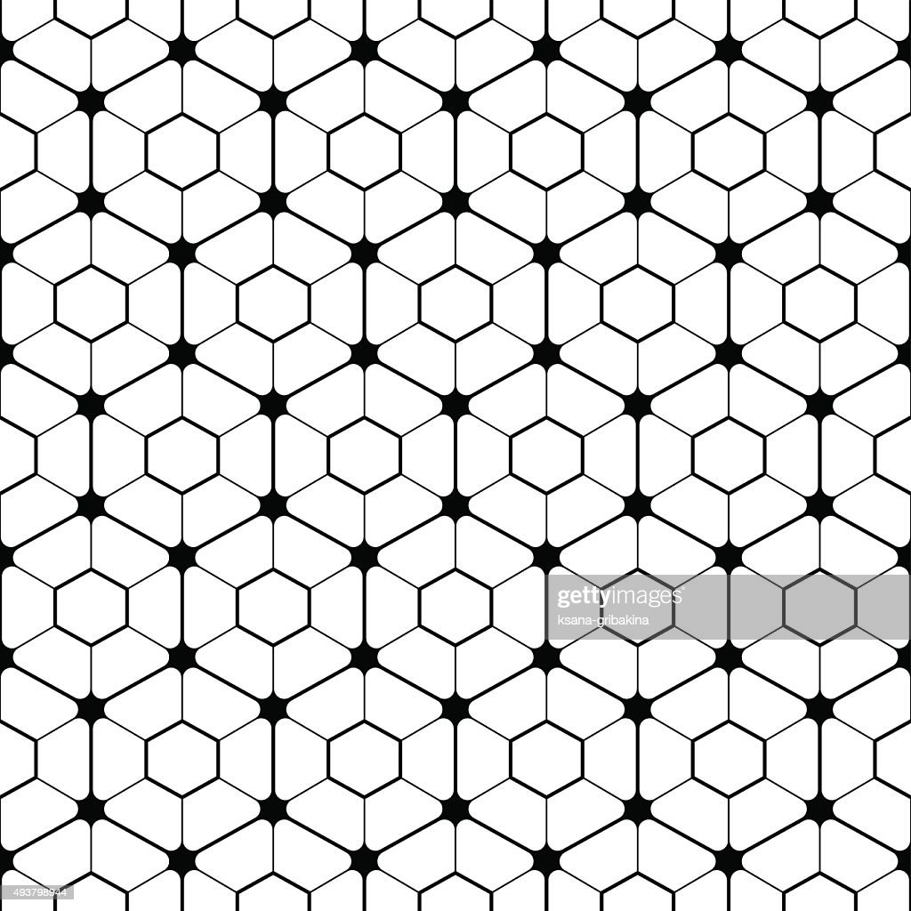 Hexagonal tilled pattern.