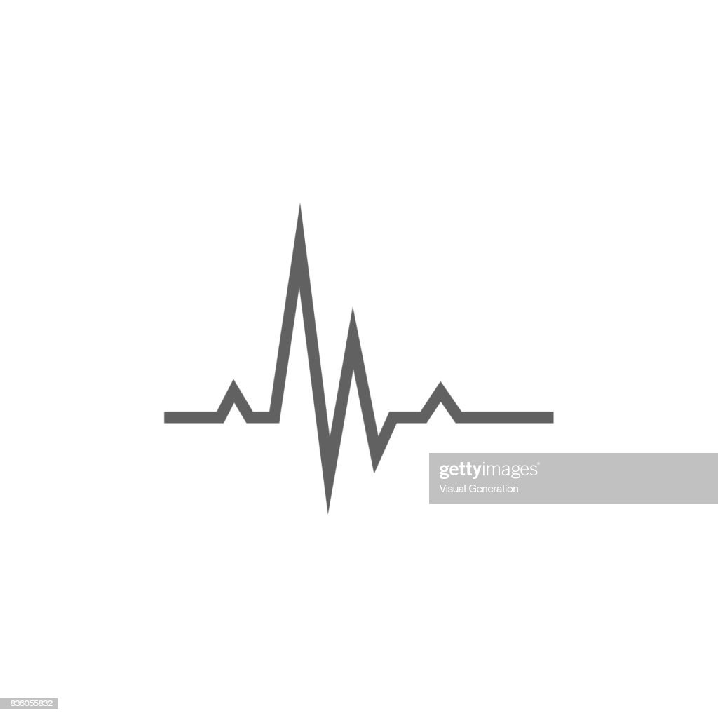 Hheart beat cardiogram line icon