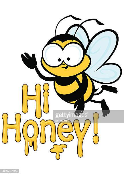 hi honey! - bumblebee stock illustrations, clip art, cartoons, & icons