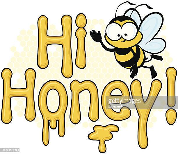 hi honey - bumblebee stock illustrations, clip art, cartoons, & icons