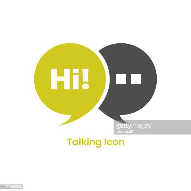 hi speech bubble icon. talking and message icon vector design. - thanks quotes stock illustrations
