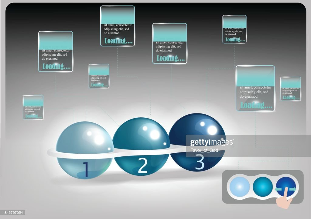 hi tech of track ball mouse with technology abstract background, vector illustration
