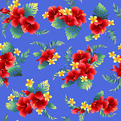 Hibiscus flower pattern,
