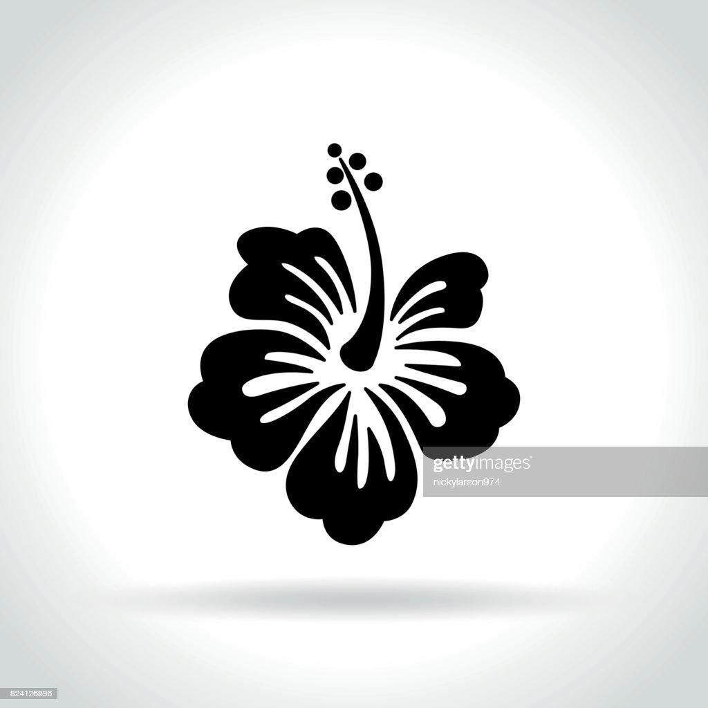 hibiscus icon on white background