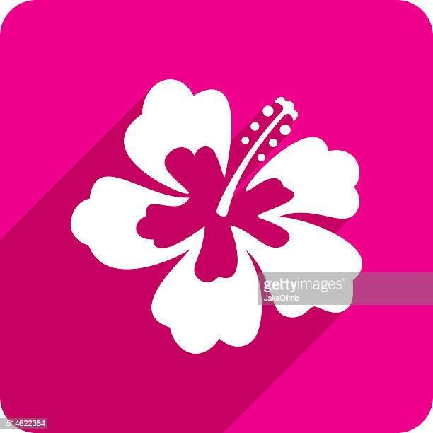 illustrations, cliparts, dessins animés et icônes de icône de silhouette hibiscus - hibiscus