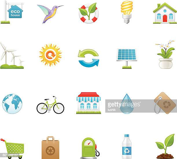 hico icons — green environment - biodiesel stock illustrations, clip art, cartoons, & icons