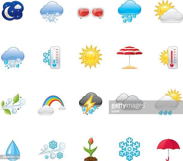 hico wetter icons — - meteorologie stock-grafiken, -clipart, -cartoons und -symbole
