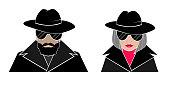 Hidden avatar anonymous-man and woman