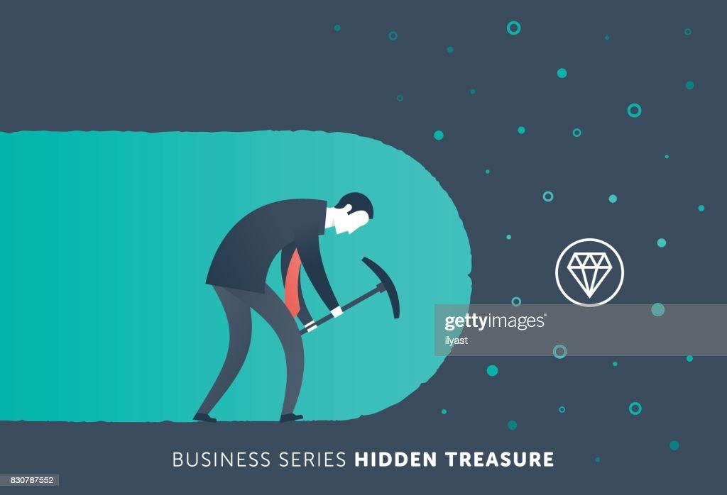 Hidden Treasure : stock illustration