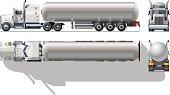 Hi-detailed tanker semi-truck
