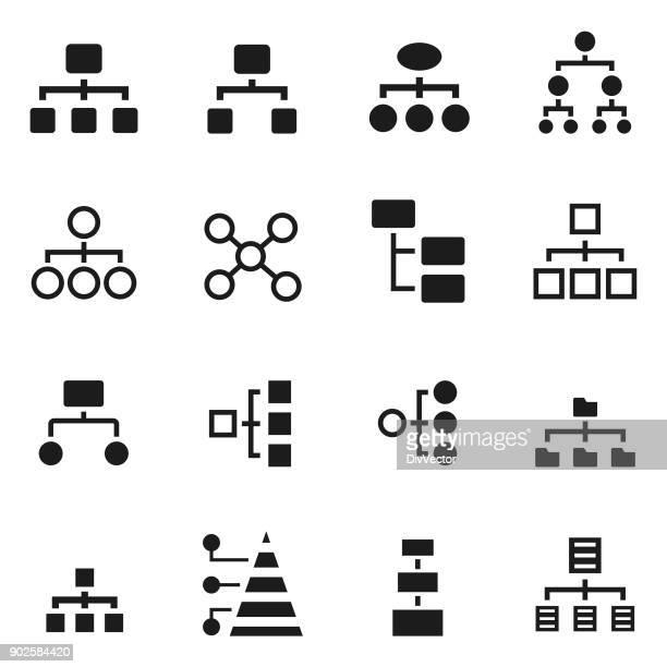 stockillustraties, clipart, cartoons en iconen met hiërarchie-pictogram - hiërarchie