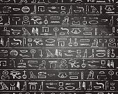 Hieroglyphics Blackboard Background