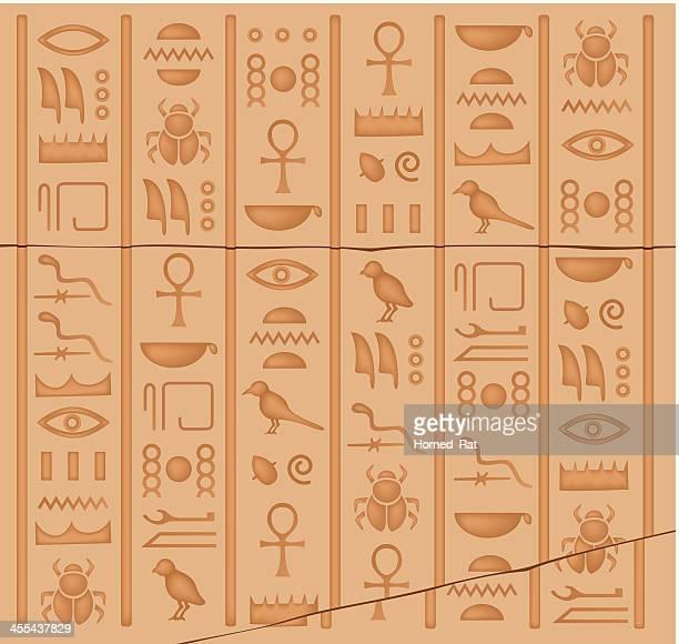 hieroglyphs - egypt stock illustrations