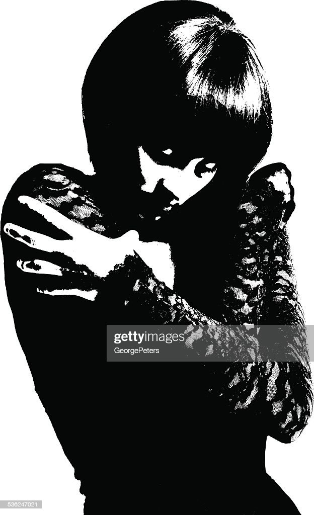 High Contrast Portrait of a Goth Girl