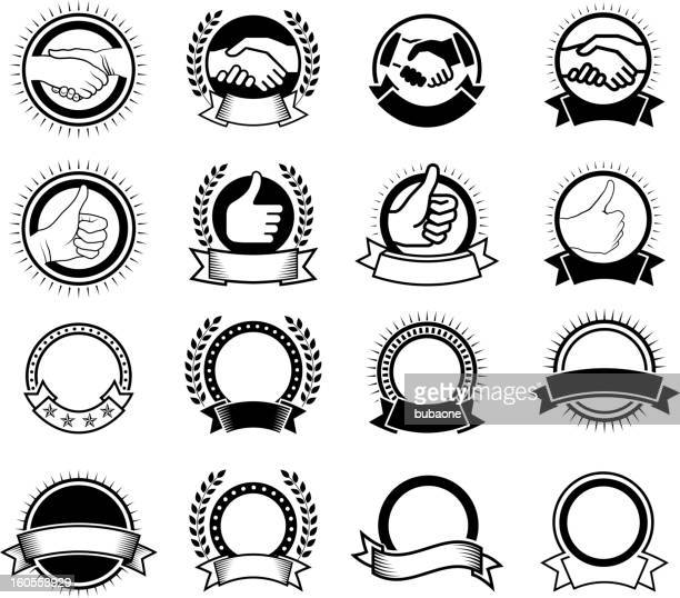 high degree of quality in customer service and satisfaction - great seal stock illustrations, clip art, cartoons, & icons