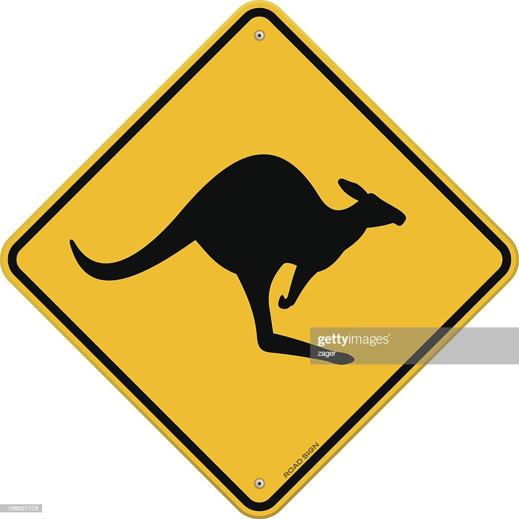 High Detail Kangaroo Sign
