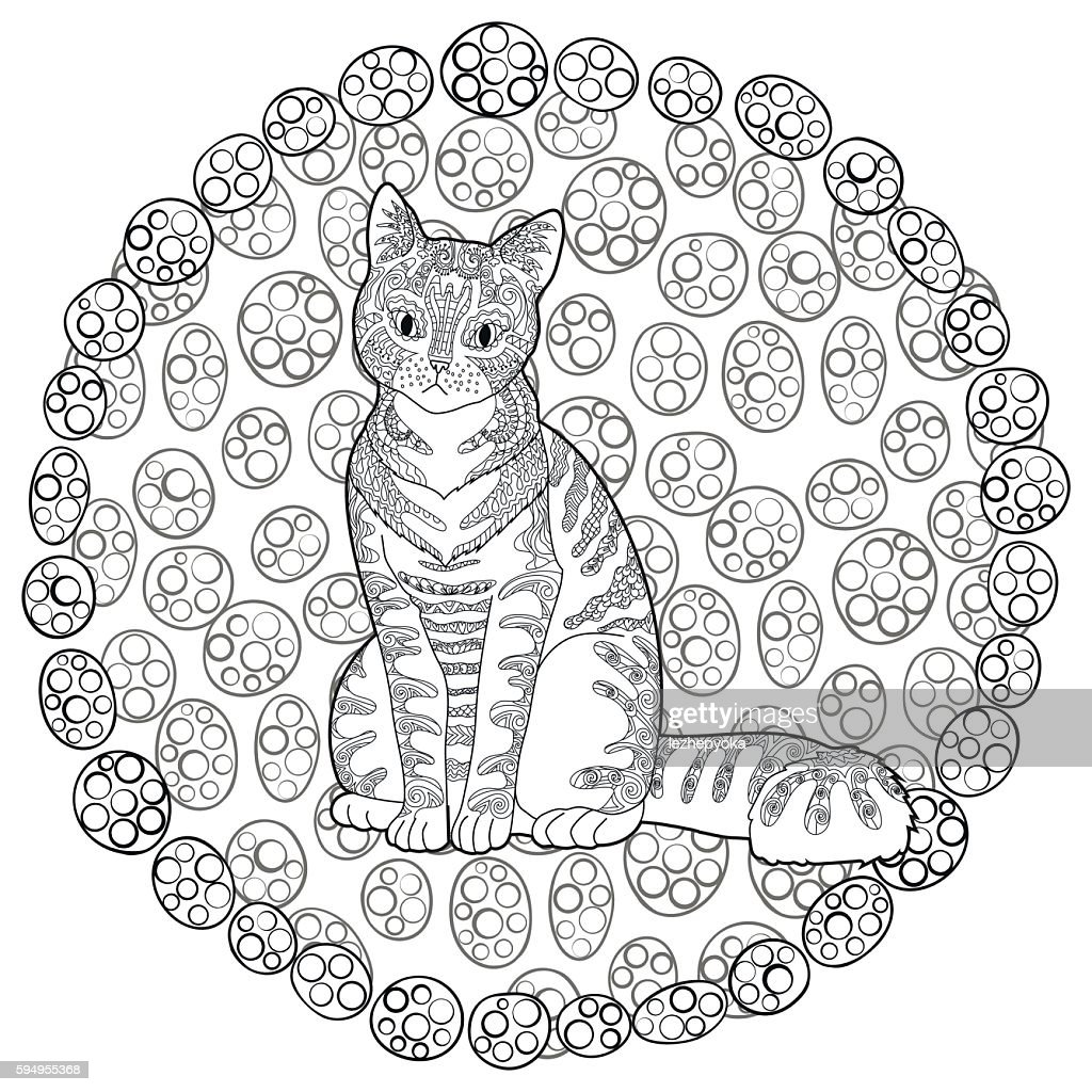 High detail patterned cat.