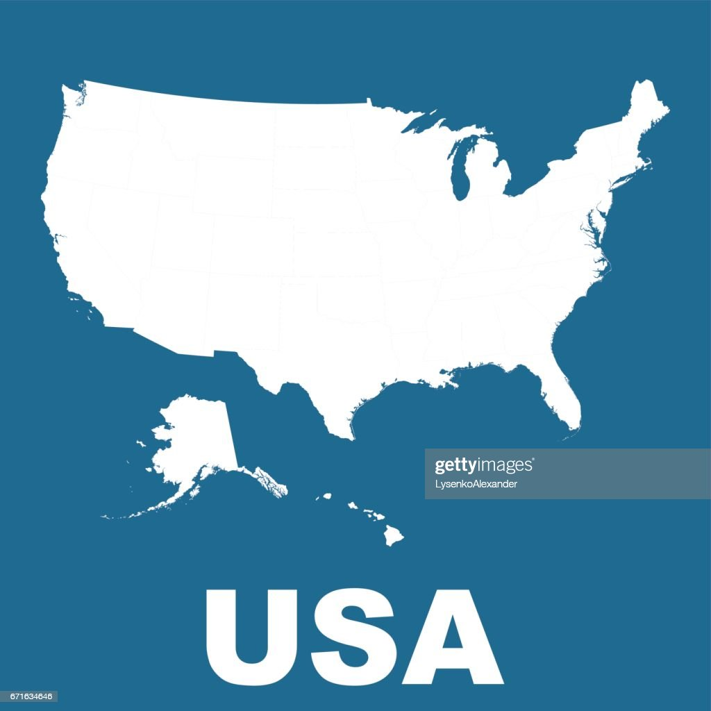 High Detailed Vector Map United States Usa Vector Flat Stock ...