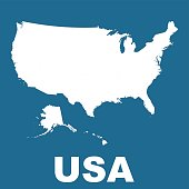 High detailed vector map - United States. USA vector flat