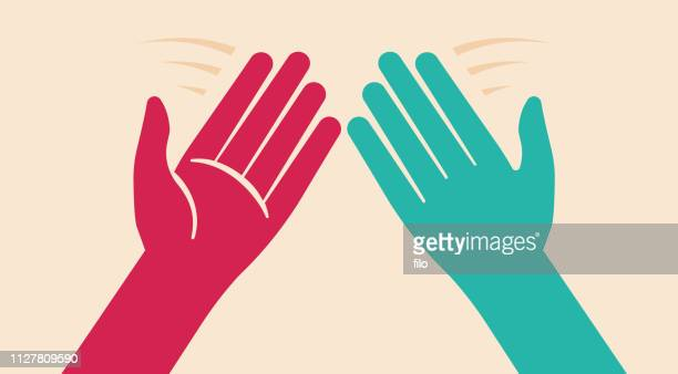 high five - slapping stock illustrations
