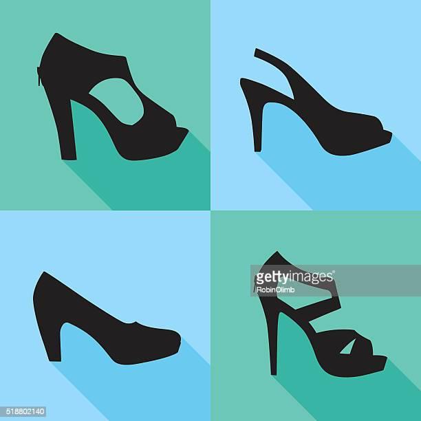 High Heel Shoe Icons