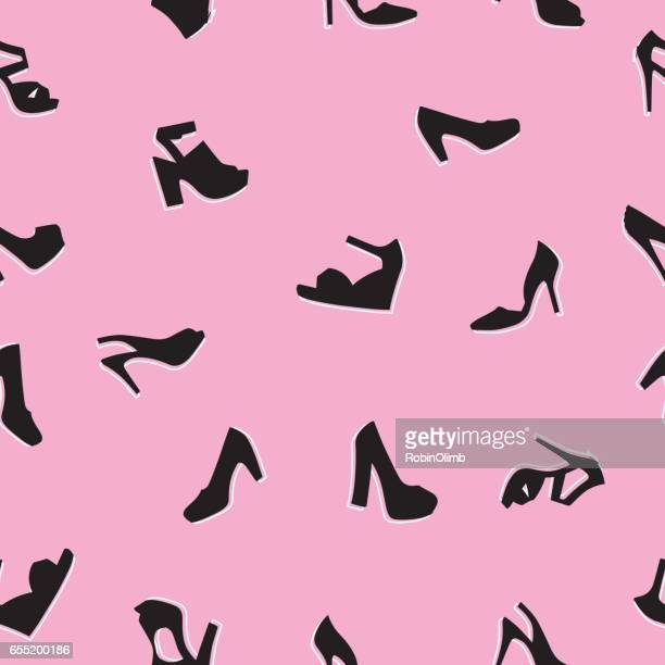 High Heel Shoes Seamless Pattern
