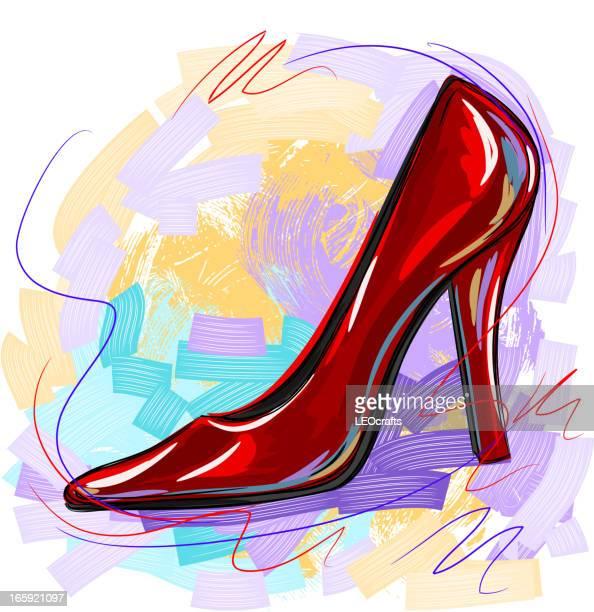 high heel - high heels stock illustrations, clip art, cartoons, & icons