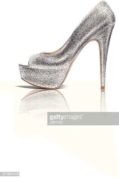 high heel - vector illustration - high heels stock illustrations, clip art, cartoons, & icons