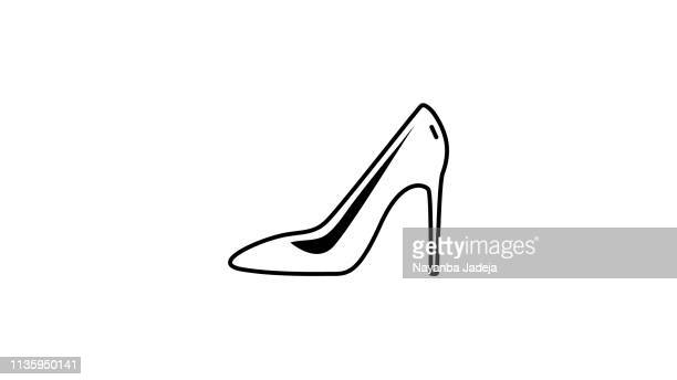 High heels shoes icon