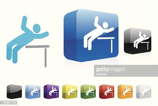 走り高跳び/3 d 収集 - ウェブ2.0点のイラスト素材/クリップアート素材/マンガ素材/アイコン素材