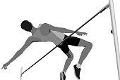 high jump men athlete jumping