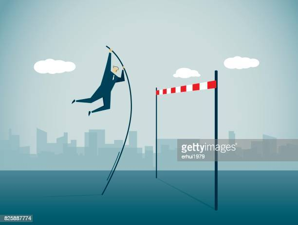 high jump - competitive sport stock illustrations, clip art, cartoons, & icons