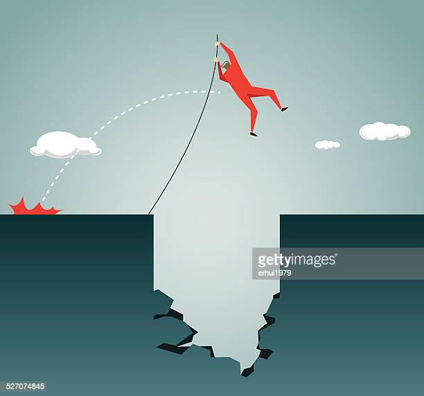 high jump,high,conquering adversity, hole, deep, trap, risk - pole vault stock illustrations