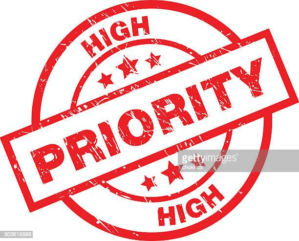 high priority rubber stamp - urgency stock illustrations