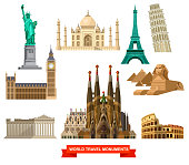 High quality, detailed World landmarks