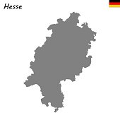 High Quality map is a state of Germany