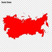 High quality map of Soviet Union