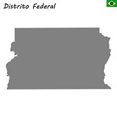 High Quality map of state Brazil
