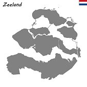 High Quality map  province of Netherlands