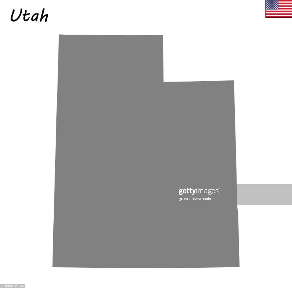 High Quality map state of United States