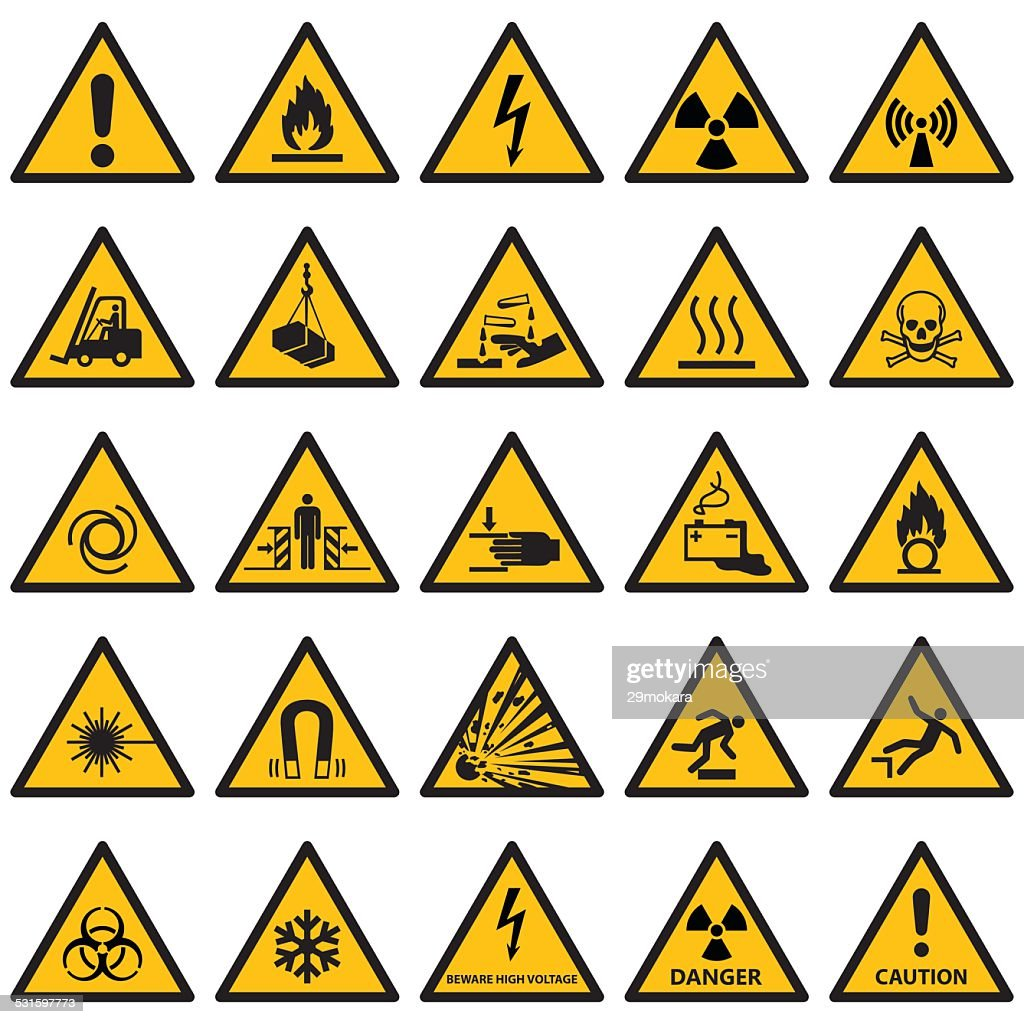 High quality Standard Warning sign collection
