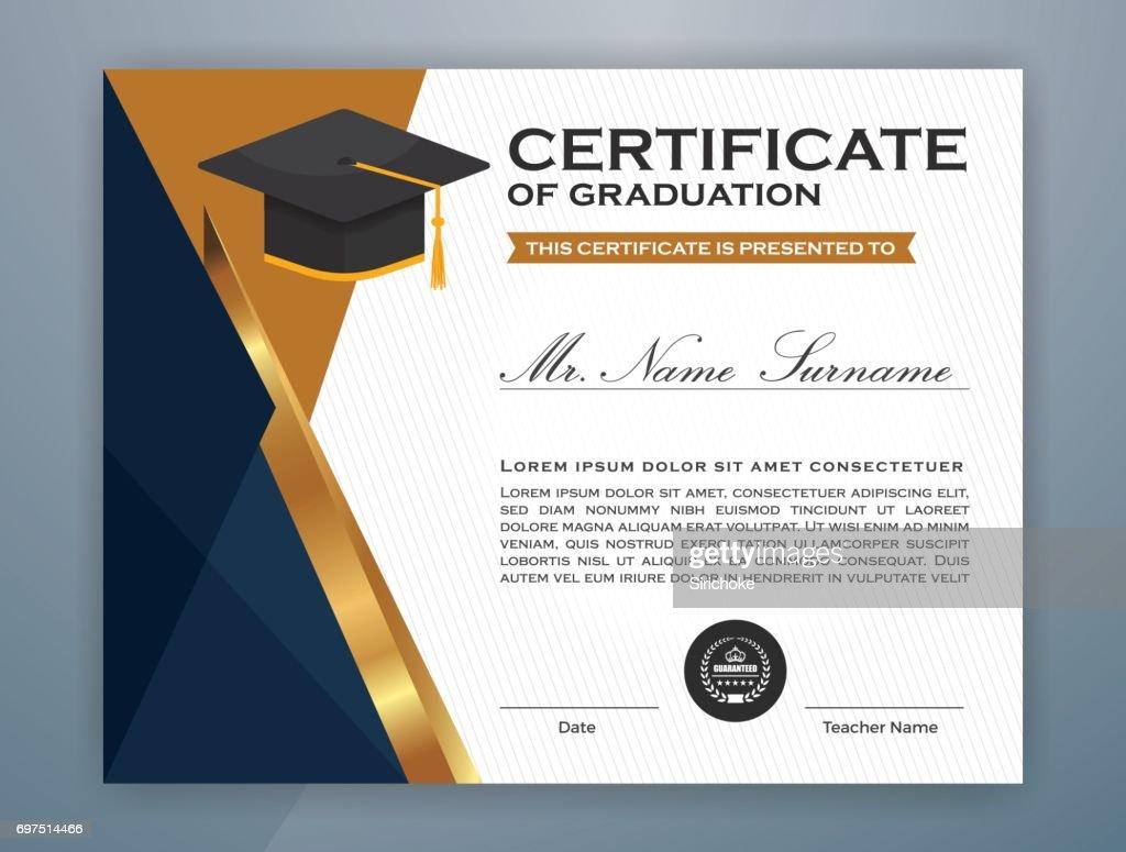 High school diploma certificate template vector art getty images high school diploma certificate template vector art yadclub Images