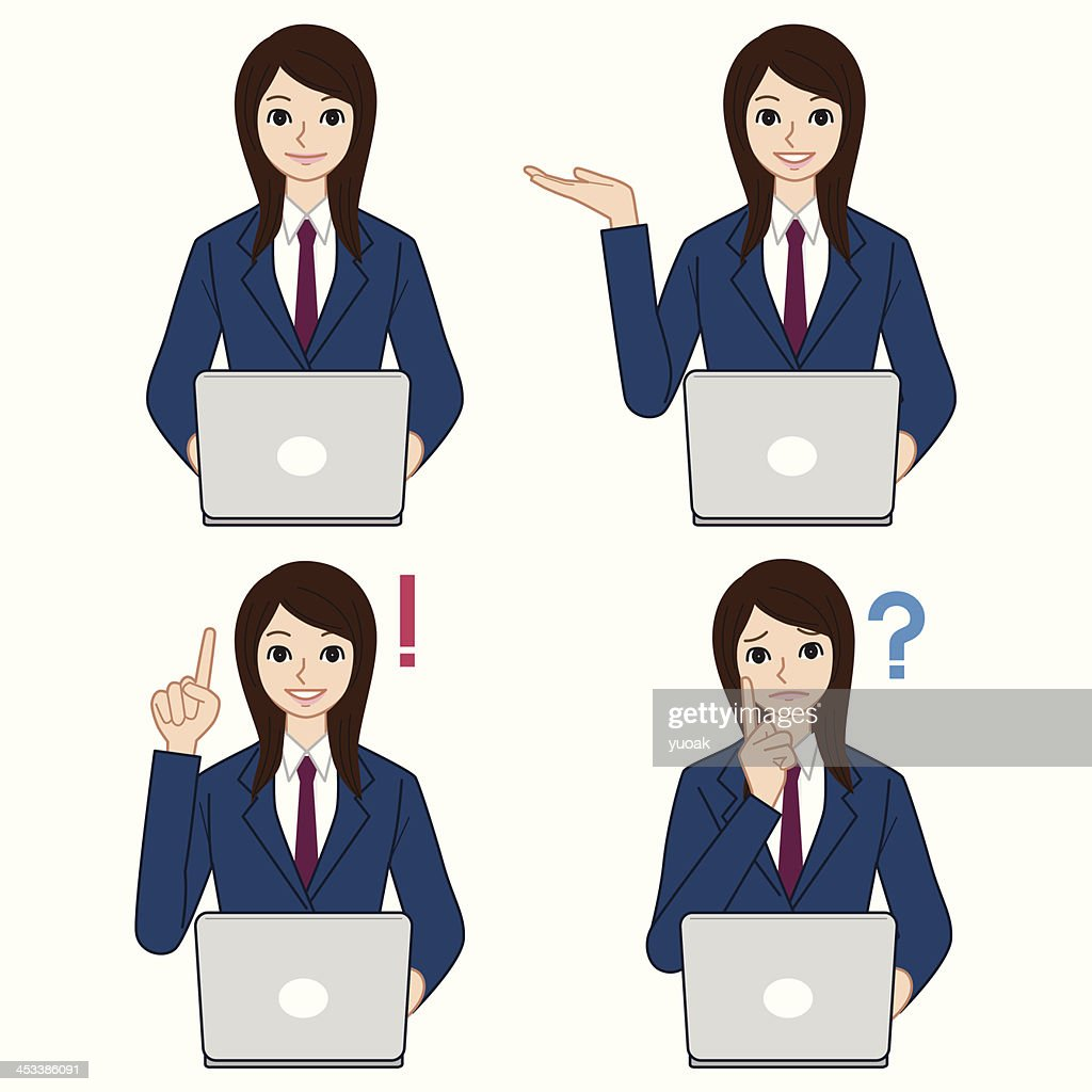 High school students with laptop : stock illustration