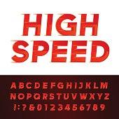 High Speed alphabet vector font.