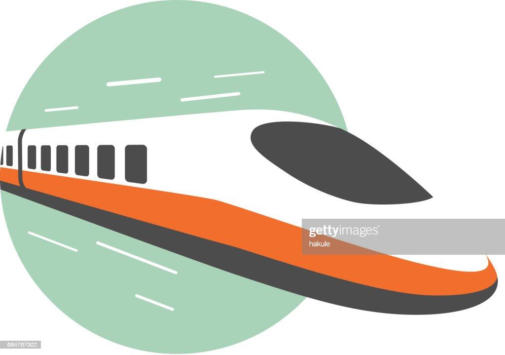 High speed train, modern flat design, vector illustration : stock illustration