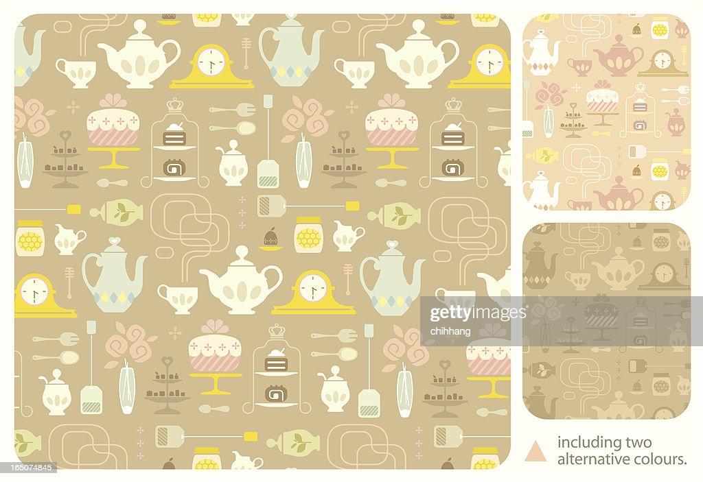 High Tea Pattern : stock illustration