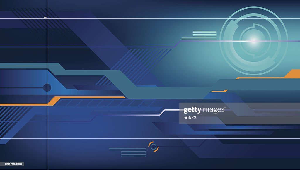 A High Tech Background Used As Wallpaper Vector Art